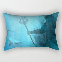 Scuba Diver meets Poseidon  Rectangular Pillow
