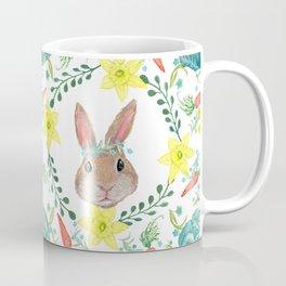 Easter Bunny & Spring fox with spring flowers Coffee Mug