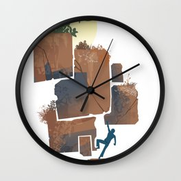 dirt Wall Clock