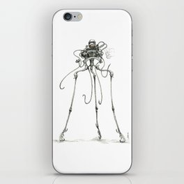 Martian Tripod Queen, Black and White iPhone Skin