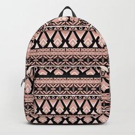 Brown grey ornament Backpack