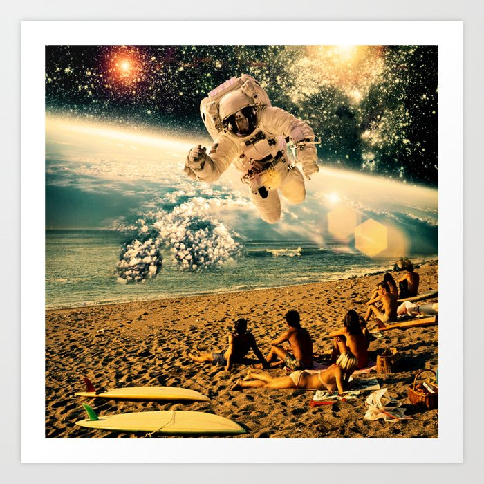 Visitor From The Fifth Dimension Art Print