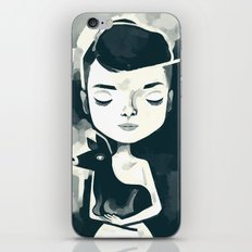 audrey pet deer iPhone & iPod Skin
