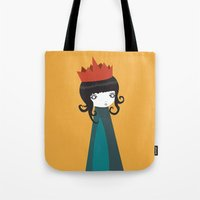 queen Tote Bags featuring Queen by Volkan Dalyan
