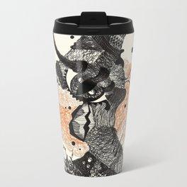 3. Black Cat Metal Travel Mug