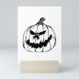 Grunge Jack O Lantern Mini Art Print