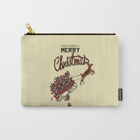Pugs Christmas Carry-All Pouch