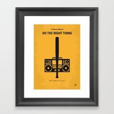 No179 My Do the right thing minimal movie poster Framed Art Print