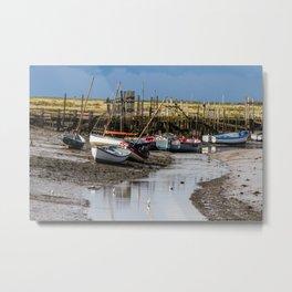 Boats at Morston Quay Metal Print