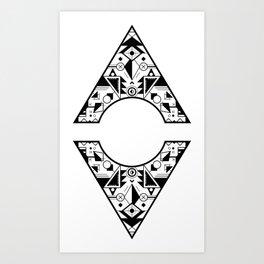 Aztec Diamond Art Print