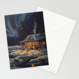 Blue Aurora Nights Stationery Cards