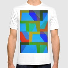Colorful Truth. Sky Mens Fitted Tee White MEDIUM