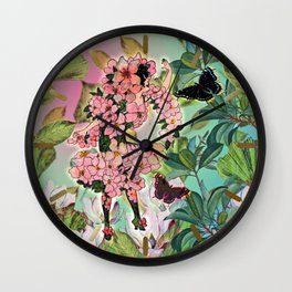 Vintage Flower Fairy Wall Clock