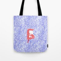 letters Tote Bags featuring Letters by Olya Goloveshkina