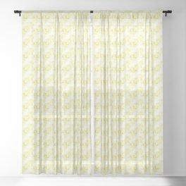 Mini Impressions: DAFFODIL STUDY 3 Sheer Curtain