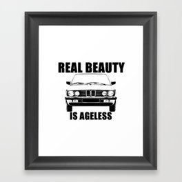 Real Beauty Is Ageless Framed Art Print