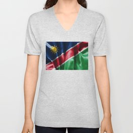 Namibia Flag Unisex V-Neck