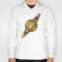 saturn Hoodies featuring Saturn by Terry Fan
