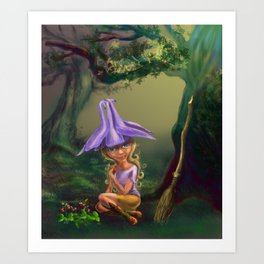 The Aquilegia witch by Dreamingsenga Art Print