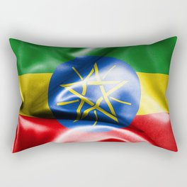 Ethiopia Flag Rectangular Pillow