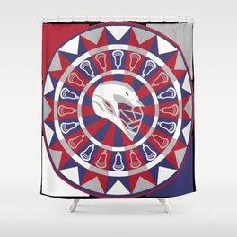 Lacrosse Shakey Dartboard Shower Curtain
