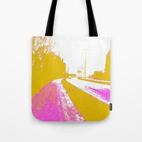 road Tote Bags featuring Road by Mr & Mrs Quirynen