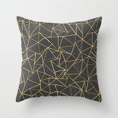 Ab Out Double Repeat Black Throw Pillow