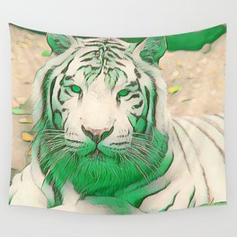 Green Tiger Wall Tapestry