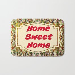 Stained Glass Home Sweet Home  Bath Mat