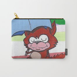 Fox and Umbrella Carry-All Pouch