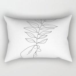 Minimal Hand Holding the Branch III Rectangular Pillow