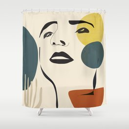 Abstract Face I Shower Curtain