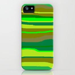 Green Multi Brush Strokes iPhone Case