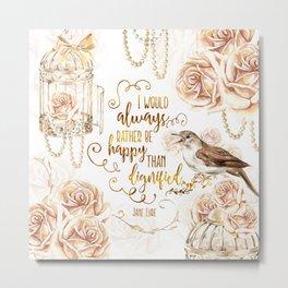 Jane Eyre - Dignified Metal Print