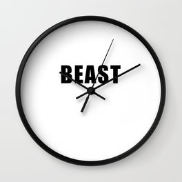 beast mode (white). Pure muscle power! Wall Clock