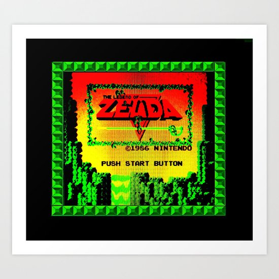 The Legend of Zelda (Start Screen) Art Print