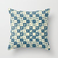 nautical Throw Pillows featuring Nautical  by Julscela
