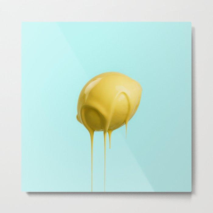 Lemond Drop Metal Print