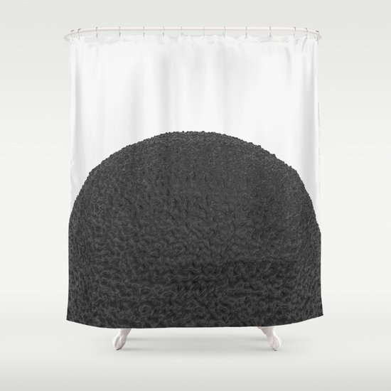 Black sphere Shower Curtain
