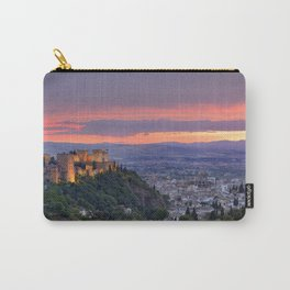 The alhambra and Granada city at sunset Carry-All Pouch