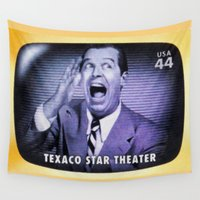 theater Wall Tapestries featuring Texaco Star Theater by lanjee