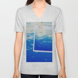Neon Ocean Abstract Snapshot Unisex V-Neck