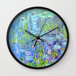Water Lilies monet : Nympheas Wall Clock