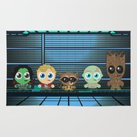 guardians of the galaxy Area & Throw Rugs featuring GUARDIANS OF THE GALAXY by Chris Thompson, ThompsonArts.com