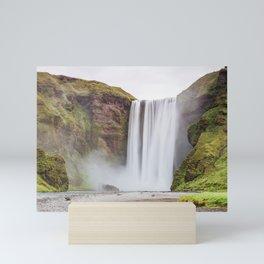 Skogafoss waterfall Mini Art Print