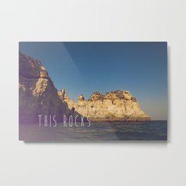 THIS ROCKS Metal Print