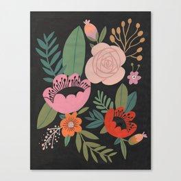 Floral Guache Canvas Print