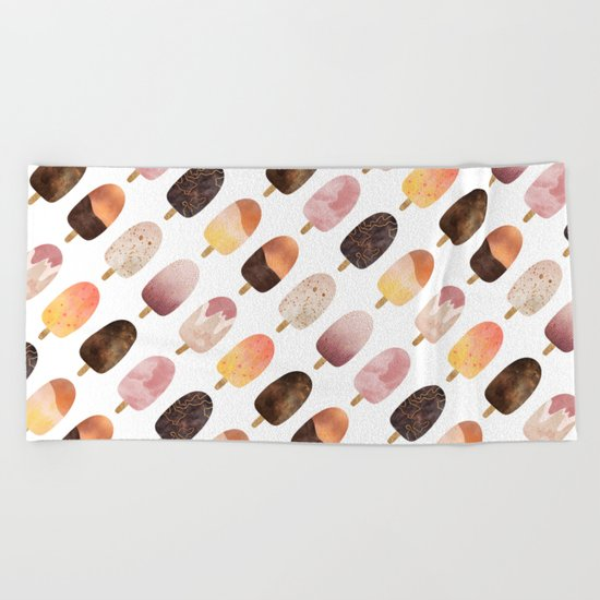 Pretty Popsicles 1 Beach Towel