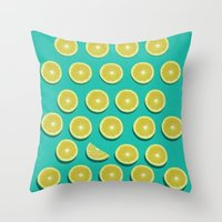 fruit Throw Pillows featuring fruit  by mark ashkenazi