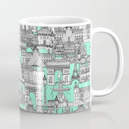 Paris toile aquamarine Coffee Mug